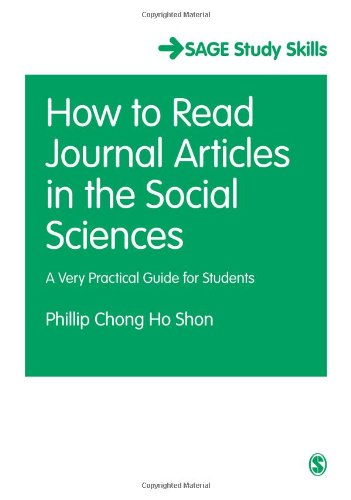 How to Read Journal Articles in the Social Sciences: A Very Practical Guide for Students (SAGE Study Skills Series) Pdf