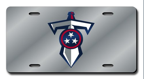 Tennessee Titans Laser License Plate - NFL Tennesse Titans Laser Cut Auto Tag, Silver