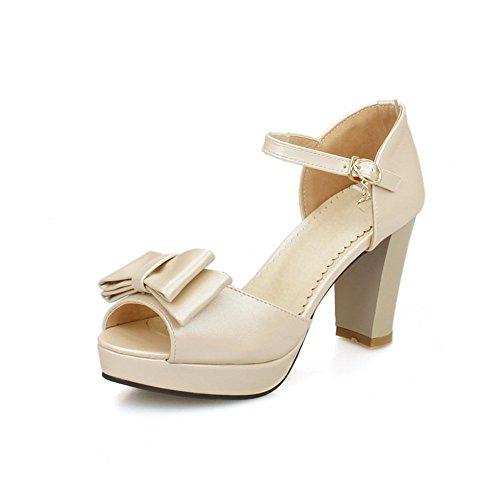 Adee Ladies Bows Solid Polyurethane Sandals apricot 5oHn2jFj0v