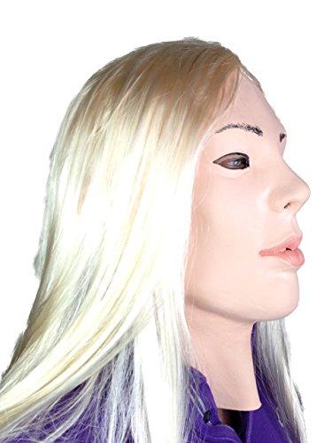 Human Masks (Fetish Mask , Human Doll , Blond Lady , Movie Quality , Transvestite Mask , Blonde)