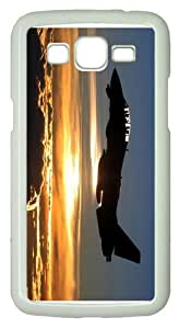 cases underwaterf tomcat sunset PC White case/cover for Samsung Galaxy Grand 2/7106