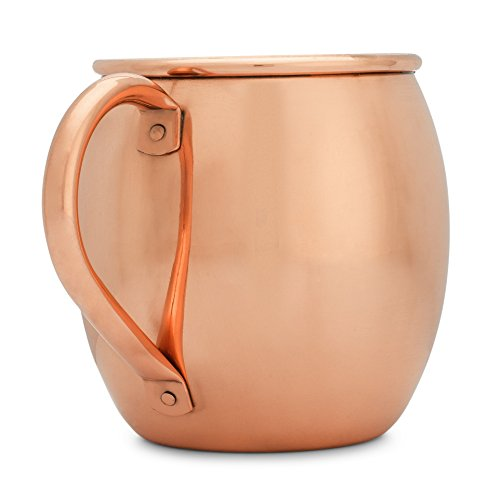 Copper Mules-Copper Moscow Mule Mug (16 oz) Handcrafted - Riveted Handle - Bonus Ebook