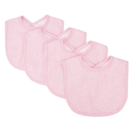 - Trend Lab Trend Lab Pink Gingham Seersucker Bib Set, Pink, 4 Count