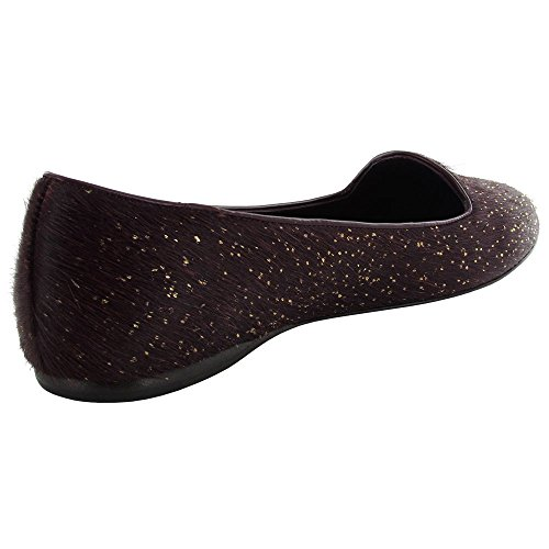 Delman Womens Sirri-ML Flat Wine Glitter Haircalf rcrfTnwvh
