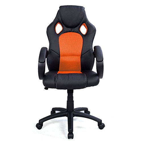 411ecVWXEcL - Back-Race-Car-Style-Bucket-Seat-Office-Desk-Chair-Gaming-Chair-Orange
