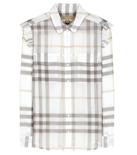 Burberry Women Shirt (Burberry Ruffle Trim Checked Women's Shirt (US 8/ UK 10))