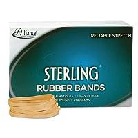 Alliance® Sterling Bandas de caucho ergonómicamente correctas, n. ° 64, 1/4 x 3-1 /2, 440 por caja de 1 lb