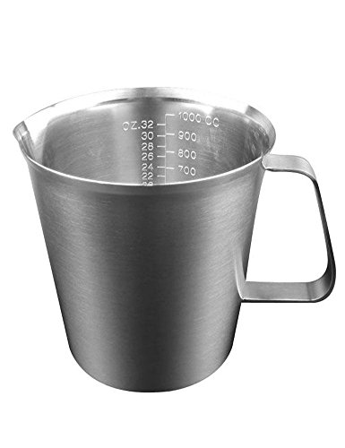 2000ml Stainless Steel Coffee Milk Pitcher Frothing Cup - SILVER - 6