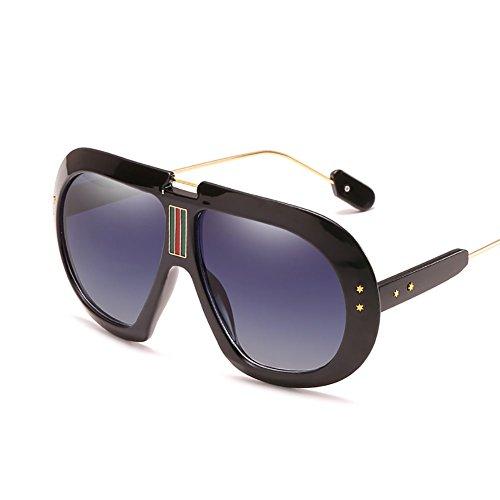 UV De Sol Corrientes Box FHTD para Gafas Black Gafas De Conducción Ligeras Hombre Personalidad Protección Deportivas Unisex Gafas Pesca Gafas Sol Blue Big De Antideslumbrante naEF0FRxX