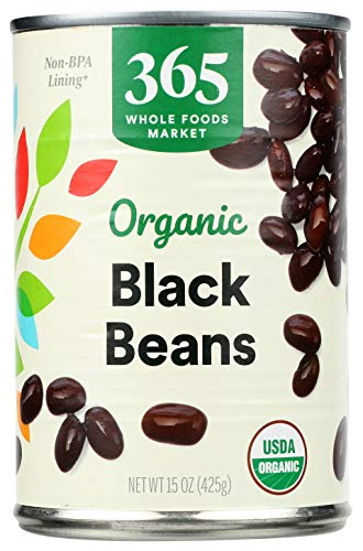 365 through Whole Foods Market, Organic Canned Beans, Black Beans, 15 Ounce