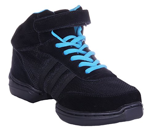 Nene's Collection Women's Dance Fitness Shoes High Top Sneakers (7.5, Black) from Nene's Collection