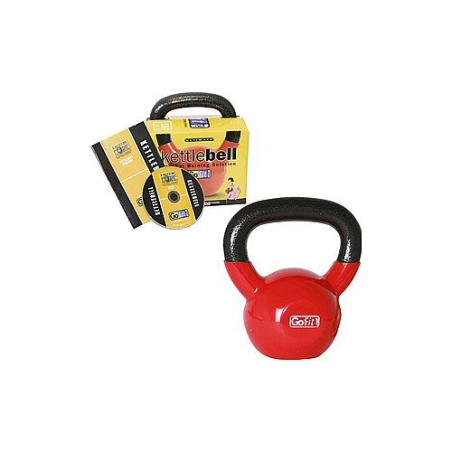 GOFIT 15 LB PREMIUM KETTLE BELL w/ INTRODUCTORY TRAINING DVD