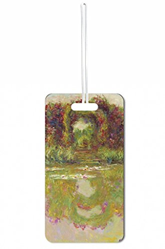 Monet Rose Arch at Giverny Rosie Parker Inc. Set of 5 Luggage Tags with Personalized (5 Piece Set Medium Arch)