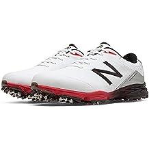 New Balance Mens Nbg2004 Golf Shoes White/Red 4E 10.5