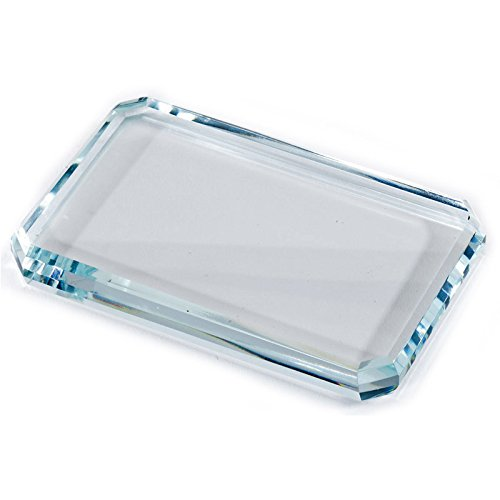 - Customizable Optical Crystal Paperweight, includes Personalization