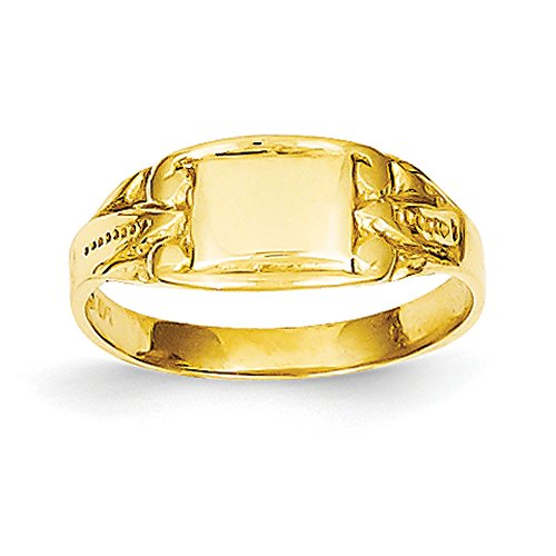 Baby and Children 14K Yellow Gold Signet - Childrens Ring Signet Yellow Gold