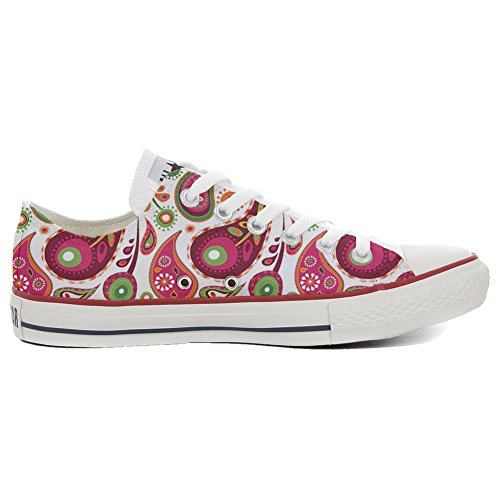 Your Shoes Coutume Artisanal Paisley Chaussures Green Adulte Make White 2 Converse Customized produit Slim Zfxdaqpn