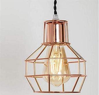 Lámpara colgante de la jaula de Lichtmetal, lámpara pendiente ...