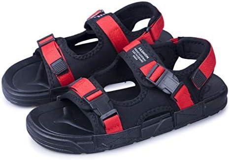 スポーツサンダル メンズ 夏用 マジック式 ファッション コンフォートサンダル 厚底 幅広 大きいサイズ 滑り止め 歩きやすい 軽量 通気 防臭性 ストラップ ビーチ 登山 アウトドア 赤 ブラック 24.5-27.0CM