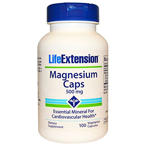 Life Extension, Magnesium Caps, 500 mg, 100 Veggie Caps - 2pc (Life Veggie)