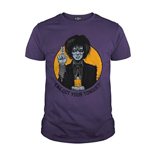 Men's Cat Got Your Tongue T-Shirt (2XL, Purple) -