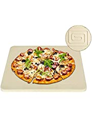 """Onlyfire Heavy Duty Ceramic Pizza Grilling Stone, 14"""" x 16"""" Rectangular Baking Stone for Best Crispy Crust Pizza, Perfect for Oven, BBQ and Grill, Thermal Shock Resistant"""