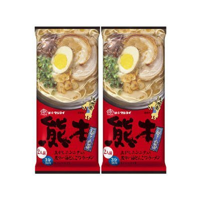 (MARUTAI Kumamoto Tonkotsu Instant Noodle Soup Ramen Non-fried For 2 servings (2pcs))