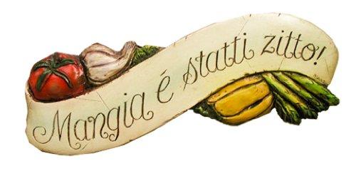 (Piazza Pisano Italian Wall Plaque Mangia E Statti)