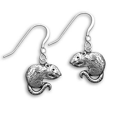 Pet Rats In Costumes (Sterling Silver Rat Earrings by The Magic Zoo)