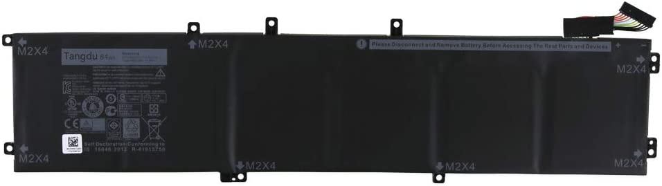 Tangdu 4GVGH New Replacement Laptop Battery for DELL Precision 5510SeriesXPS 15 9550 Series1P6KDT453X11.4V 84wh 7260mah