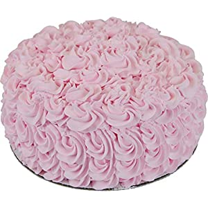 Flora-cal Products Artificial Pink Rose Cake 9 Inch 90