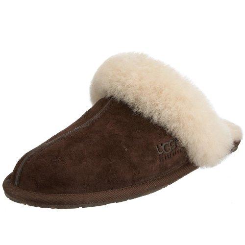 UGG Women's Scuffette II Scuff Slipper,Espresso,10 B US - Heel Suede Sheepskin Leather
