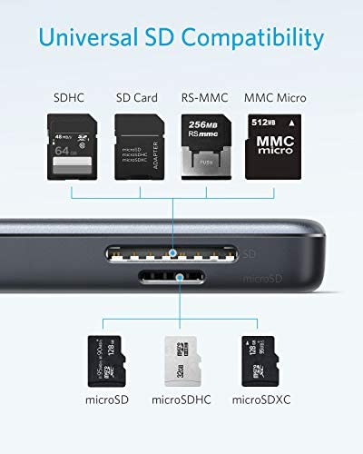 USB C Hub Anker 5in1 USB C Adapter with 4K USB C to HDMI SD and microSD Card Reader 2 USB 30 Ports