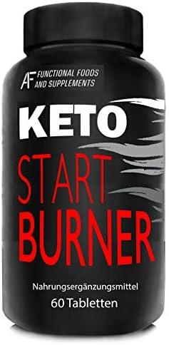 KETO START BURNER A.I.F. | 60 Fettverbrennungstabletten für MÄNNER und FRAUEN | 7 starke Stoffwechselaktivatoren | CLA | Carnitin | Vegane Kapseln ohne Zusatzstoffe | Thermogenetisch