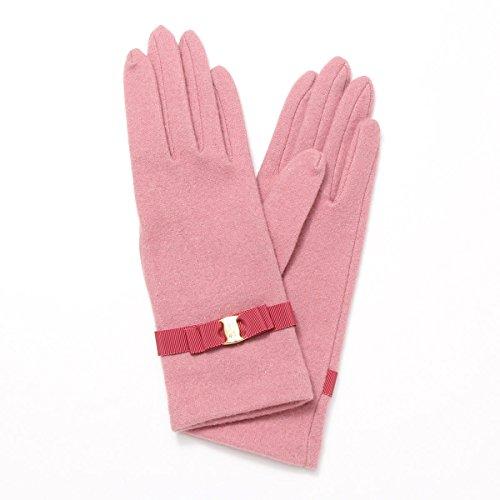 弾薬息苦しい対角線(ロベルタ ディ カメリーノ) Roberta di Camerino レディース ジャージ手袋 ロゴ入りバックル リボンベルトデザイン Mサイズ ピンク