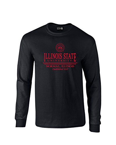 NCAA Illinois State Redbirds Classic Seal Long Sleeve T-Shirt, Large, Black (Shirt Classic Illinois)