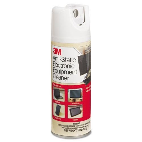 (3M/COMMERCIAL TAPE DIV. Antistatic Electronic Equipment Cleaner, Oil/Wax-Free, 10oz Aerosol (CL600))