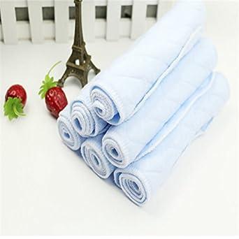 rurah 10 pcs para pañales 3 capas ecológico algodón bebé pañal de tela Inserta reutilizable lavable