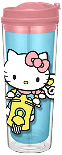 (Vandor 18022 Hello Kitty Let's Go Acrylic Insulated Travel Tumbler Cup, 16)