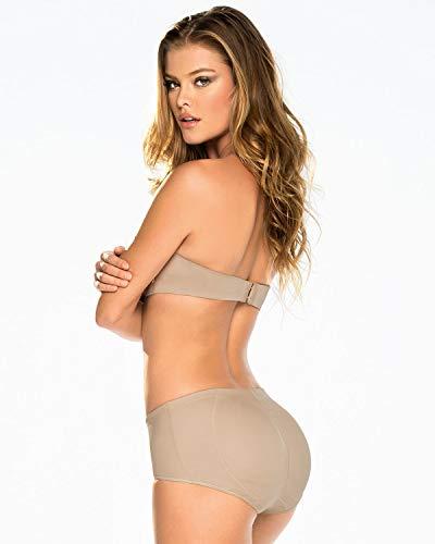 Leonisa Womens Seamless Tummy Control Rear Lifting Panty Shaper,Beige,X-Large