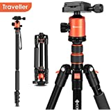 Geekoto Tripod, Camera Tripod for DSLR, 58'' Extremely Lightweight and Ultra Compact Aluminum Tripod with 360° Panorama Ball Head, Ideal for Travel and Work(AT24 Traveller)