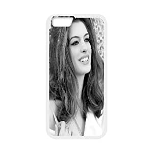 Case for IPhone 6S Plus, American Actress Anne Hathaway Case for IPhone 6S Plus, Bloomingbluerose White