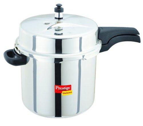 Prestige PDSSPC2 Deluxe Stainless Steel Pressure Cooker, 2-Liters