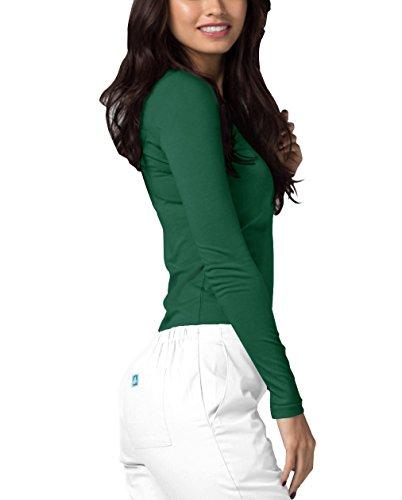 Adar Womens Comfort Long Sleeve T-Shirt Underscrub Tee - 2900 - Hunter Green - M by Adar Uniforms (Image #2)