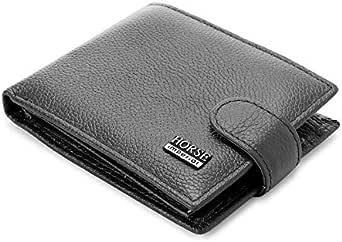 محفظة جلدية من امبيريال هورس بمشبك وزر