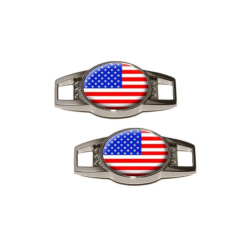 American USA Flag Shoelace Decoration