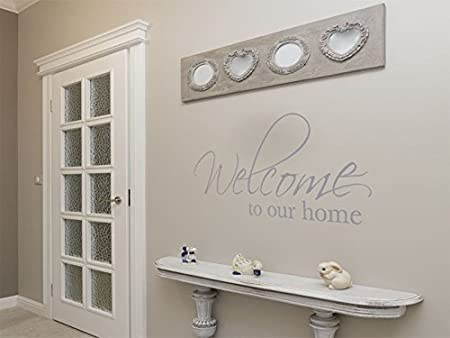 Wonderful Wall Art Sticker, Welcome To Our Home..., Wall Art Quote,