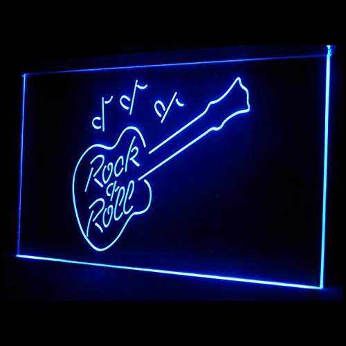 140031 Rock and Roll Guitar Interactive Entertainment Display LED Light Sign