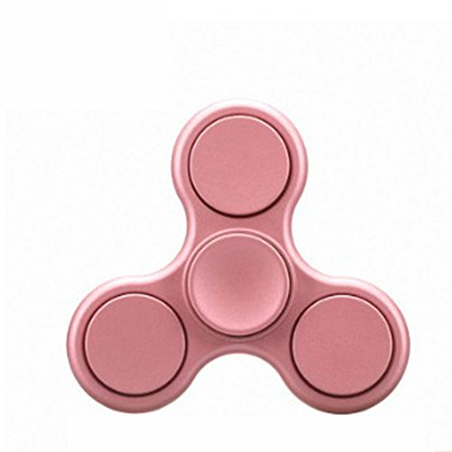 FIDGET DICE Hand Fidget Toy Spinners Stress Reducer with Ceramic Bearing (Grind Rose Gold)