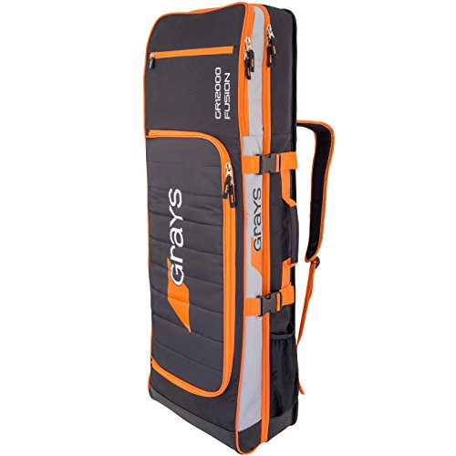 Grays GR12000 Fusion Kitbag (2017/18) - Black/Silver/Orange by Grays
